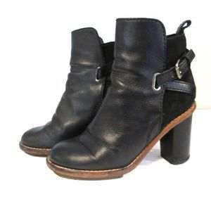 Acne Studios Clover Leather Heeled Booties Boots